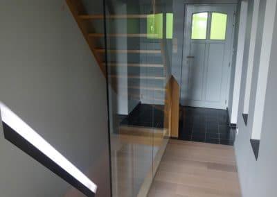 Transformation - Cage d'escalier - Rampe de verre