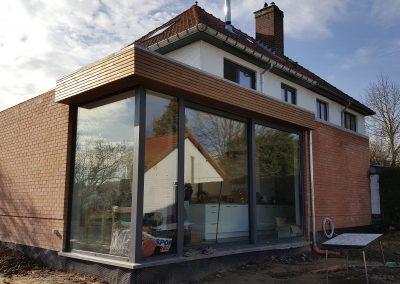 BUIZINGEN   construction d'une extension