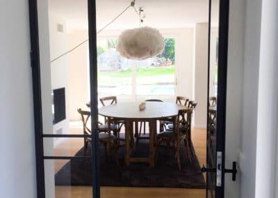 Salle à manger - Porte en verre à structure métallique noire